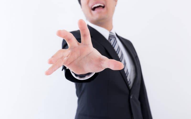 男性 ビジネスマン 掴む
