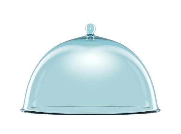 ハンドル付きガラス製ボウル球面カバー