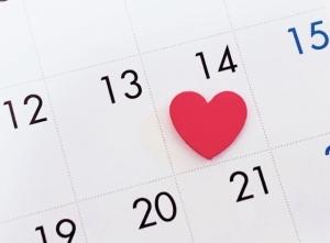 カレンダーにハート