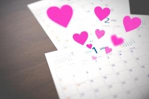 カレンダーのハート印